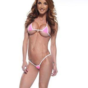 Bitsys Bikinis Swim Pink Micro Kini 2 Piece Bikini By Bitsys Bikinis
